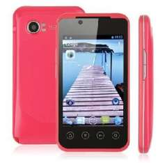Pink MTK6515 1G frequency | 3.5-inch capacitive screen TV VIFI dual card dual standby | Smartphone