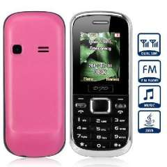 D800 Quad-band bar phone | Bluetooth FM Pink