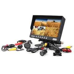 China wholesale 7 Inch Car Frontal\Rearview Monitor with 4 Cameras