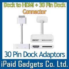 IPad Dock To HDMI + 30Pin Dock Connector