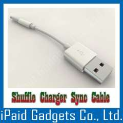 IPOD SHUFFLE CABLE USB CHARGER DATA SYNC CABLE LEAD FOR APPLE 3RD 4TH 5TH GEN IPOD SHUFFLE WHITE