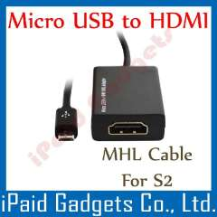 S2 Mhl Cable Micro USB MHL To HDMI HDTV Cable Adapter