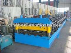 Trapezoid sheet roll forming machine.