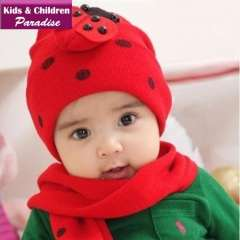 2013 New Year Fashion Children Knitted Cartoon Spider Animal Pattern Beanie with Scarf Baby Warm Winter Lovely Cap 43006
