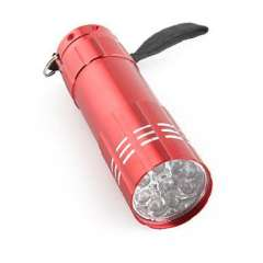 709B 9 LED flashlight | Red
