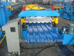 18 rolling stations doubler layer roll forming machine with automatic stacker