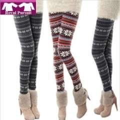 2013 New Arrival Fashion Women Warm Winter Slim Legging Pants with Deer\Snowflat Pattern Free Shipping 19004