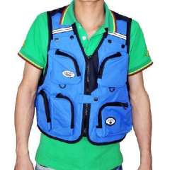 Outdoor climbing / fishing / photography vest / multi-pocket vest - blue