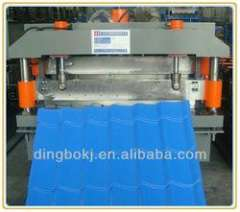 15kw main motor power galvanized tile roll forming machine