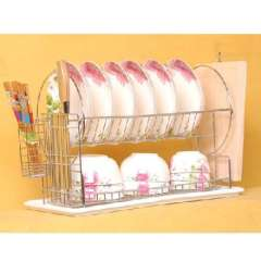 Double circle dish rack | two removable dish rack | Drain rack