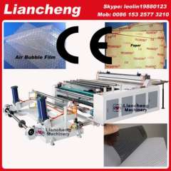 30 kinds Bubble film, EPE, paper, plastic etc hot sell in African, india etc PLC DC paper core cutting machine