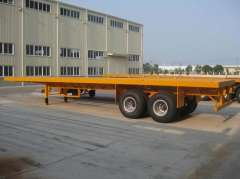 Container carrier truck trailer and Semi trailer flat bed for sale\flatbed truck vehicle