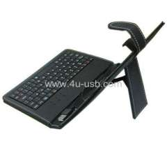 Leather Case Built in Keyboard for Ipad style( 7 Inch Tablet PC)