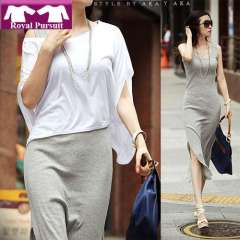 2013 New Arrival Fashion Women Sexy Long Summer Dress Black\Gray Maxi Bodycon Dresses Cotton+Polyester Free Shipping 12005