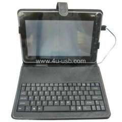 Leather Case with Keyboard for 10.2 Inch Mini Laptop