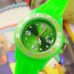 Silicone turntable | with calendar watch | Green
