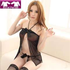 2013 New Arrival Fashion Women Sexy Black Lingerie\Underwear Set with Bow Design Soft\Comfortable Free Shipping 15002