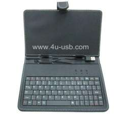 Leather Case with Keyboard for 7 Inch Mini Laptop