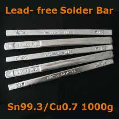 1000g 1kg Clean Lead-free Tin Stannum Sn Cu Copper Melt Rosin Core Solder Wave Soldering solder Bar Rod Stick free shipping