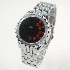 The new ultra-high definition LED watches Men's disk | silver red