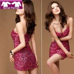 2013 New Arrival Fashion Women Sexy Evening Dress with Sequined Mini Wear Shortts Sarafan Free Shipping 12019