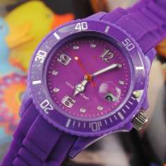 Silicone turntable | Calendar watches | Purple