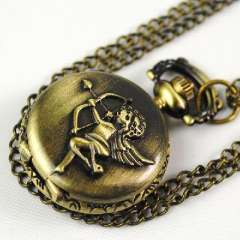 Cupid retro electronic pocket watch | sweater chain pocket watch | Bronze | Mini models