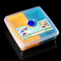 Food storage group two grid square box (2290A) random color