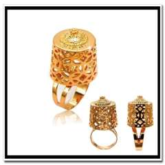 Luxury vintage design Big size men ring fashion jewelry wholesale 18 k gold plated women rings party jewelry gifts R70085