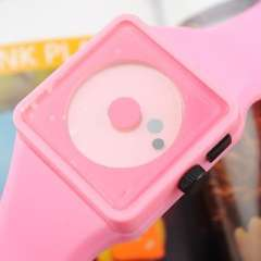 Two creative smiley dial meter | Nixon Watch | European and American popular little plastic watch | Pink