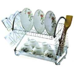 Anglo upgraded version of multi-functional stainless steel bowl rack / double draining racks
