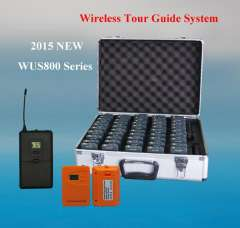 WUS800R Long range UHF whisper tour guide system with lanyards for guiding tours