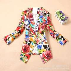 New Korean foreign trade fashion a colorful button suit Slim small suit wholesale wrinkled suit jacket sleeve
