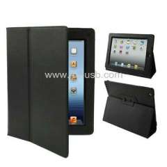 Folding Leather Case for iPad 3