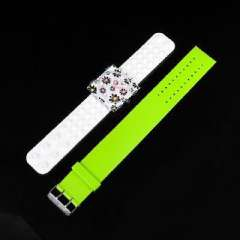 Square unisex PVC transparent electronic watches | Strap can be replaced | Lime