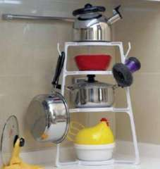Multi-purpose kitchen pot rack / shelf / storage rack | Random Color