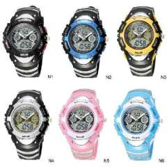 One hundred sacred cows fashion cool LED + line pin dual display diving sports watch | Authentic