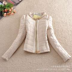 Wholesale European and American winter big thick padded waist ladies long sleeve warm new coat zipper factory outlets