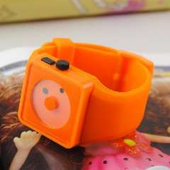 Two creative smiley dial meter | Nixon Watch | European and American popular little plastic watch | Orange