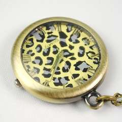 Retro transparent electronic pocket watch crystal | bronze