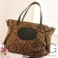 2013 autumn and winter women's handbag fashion winter shoulder bag leopard print fashion cotton-padded jacket bag