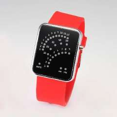Silicone fan watches | red and blue lights