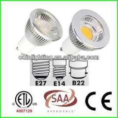 red color gu10 led spot light 5w saa ce approved