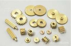 Houjie supply of non-standard copper gear / gearbox precision metal car parts processing / transmission copper gear