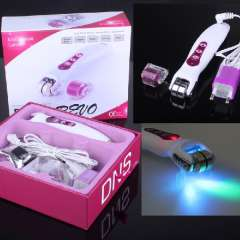 Microneedle roller derma & facial beauty derma roller with LED photon