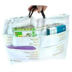 The English version of portable multifunction package bag storage bag | White