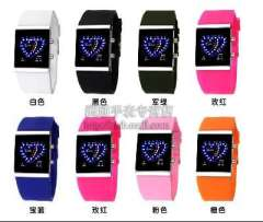 2013 new fashion moments Maxim type LED button Watch