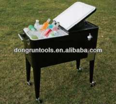 outdoor party rolling beer drink cooler cart 80qt (HX1104B)