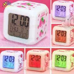 Guangdong production of high-quality cartoon colorful clock / thermometer | strawberries