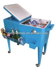 barbecue rolling cooler box, beverage cooler cart, beer cooler trolley
